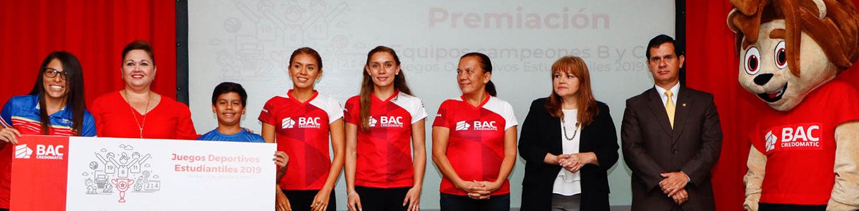 Premiación Campeones Equipos Juegos Deportivos Estudiantiles